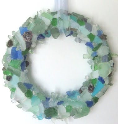Sea glass bevanddara for Things to make out of glass
