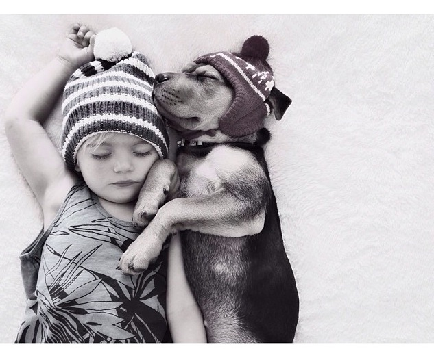Little Boys And Their Dogs Bevanddara - Cute portraits baby and rescue dog
